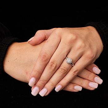 Inel de logodna i122091DiDi din Aur sau Platina cu Diamante