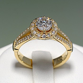 Gold or Platinum engagement ring with Diamonds i122311DiDi - GIA
