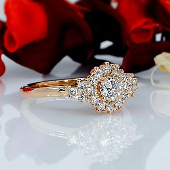 Inel de logodna i122650DiDi din Aur sau Platina cu Diamante - GIA