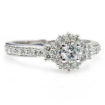 Inel de logodna i1226501DiDi din Aur cu Diamant si Diamante Secundare
