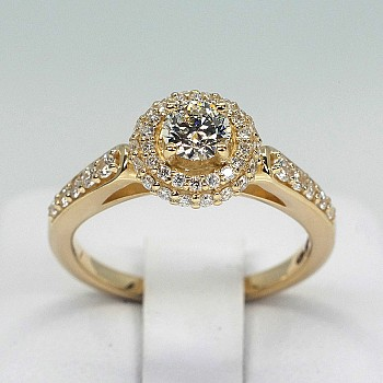 Engagement Ring i1628Didi with Diamonds from Gold or Platinum - GIA