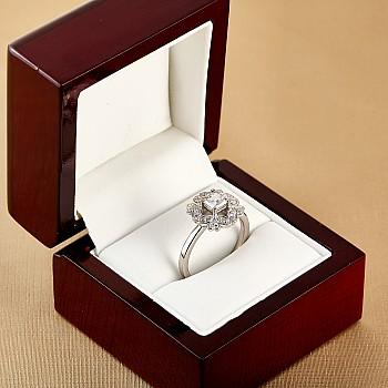 Inel de logodna i72000DipDi din Platina cu Diamant Princess Cut certificat GIA