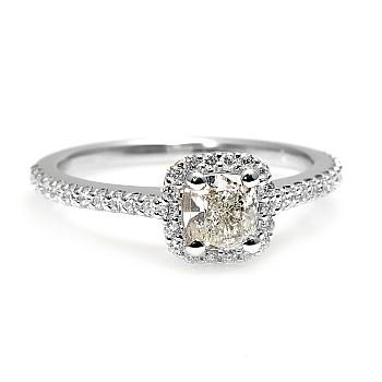 Inel de logodna i1420Dchdi din Aur cu Diamant Cushion certificat GIA
