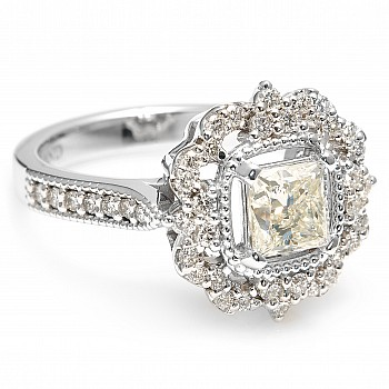 Inel de logodna i1661Dipdi cu Diamant Princess din Aur sau Platina