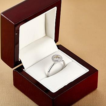 Inel de logodna i2887didi din Aur cu Diamant certificat GIA