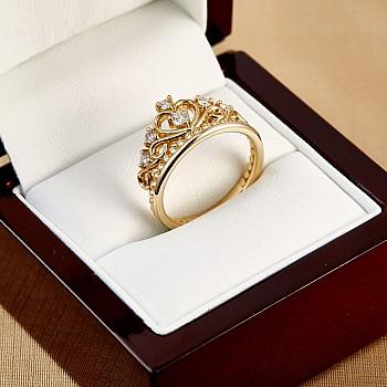 Inel King i2757 din Aur cu Diamante
