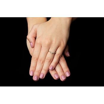 Inel Trendy s242 din Aur sau Platina cu Diamante Naturale