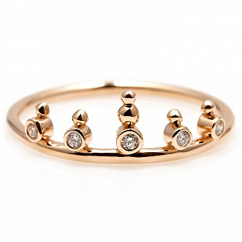 Inel Trendy s244 din Aur sau Platina cu Diamante Naturale