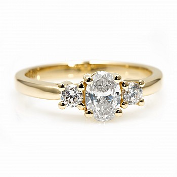 Engagement Ring i015DovDi with Diamonds from Gold or Platinum - GIA