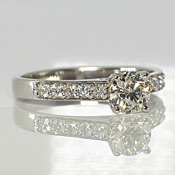 Inel de logodna i056DiDi din Aur sau Platina cu Diamante - GIA