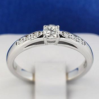 Inel de logodna i058 din Aur cu Diamant si Diamante secundare