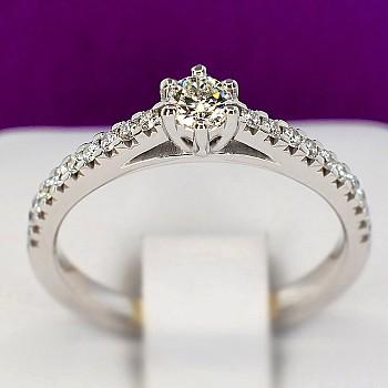 Inel de logodna i059DiDi din Aur sau Platina cu Diamante - GIA