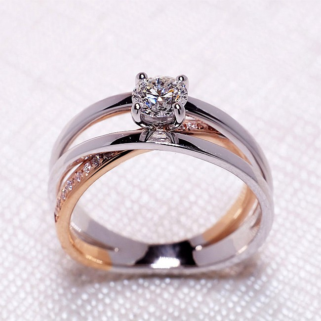 Engagement Ring i1144didi with Diamonds from Gold or Platinum - GIA