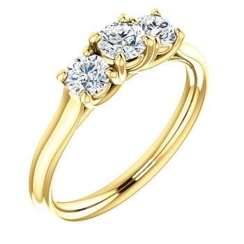 Inel de logodna i122105didi din Aur sau Platina cu Diamante