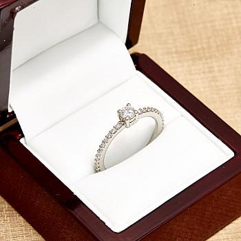 Inel de logodna i12219011DiDi din Aur sau Platina cu Diamante