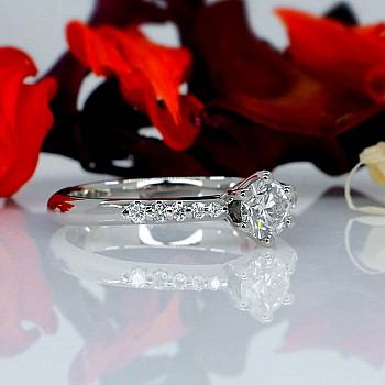 Inel de logodna model Tiffany i1681didi din Aur sau Platina cu Diamante - GIA