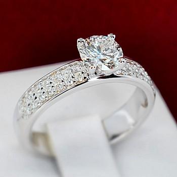 Inel de logodna i1904Didi din Aur sau Platina cu Diamante - GIA