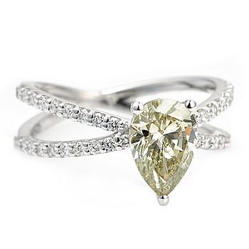 Inel de logodna i2155 din Aur cu Diamant Para Certificat IGI si Diamante Secundare
