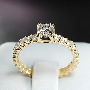 Inel de logodna i5851DiDi din Aur sau Platina cu Diamante - GIA