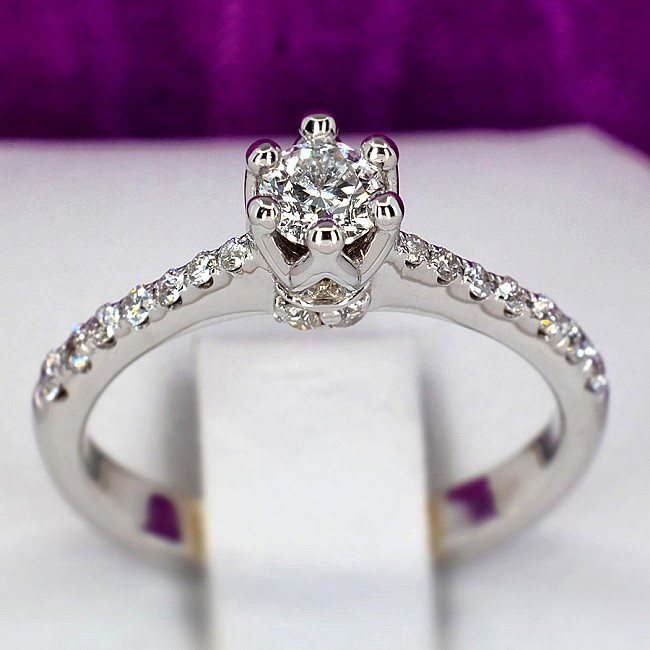 Gold or Platinum engagement ring with Diamonds i615Didi - GIA