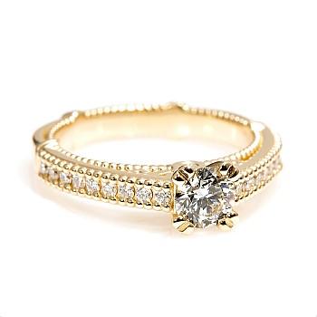 Inel de logodna model Verragio i636Didi din Aur cu Diamante - GIA