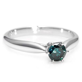 Inel de logodna i1766db din Aur cu Diamant Albastru