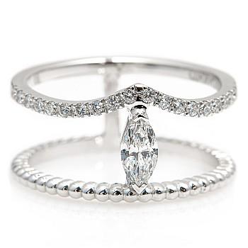 Platinum ring with 0.25ct Marquise cut Diamond and secondary Diamonds i2188dimadi