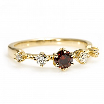 Inel de logodna i2649Dcgdi din Aur cu Diamant Coniac