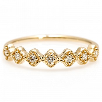 Inel Trendy s258 din Aur cu Diamante Naturale