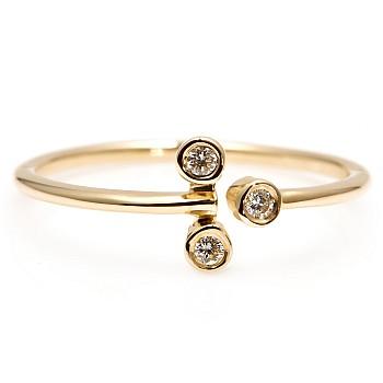 Inel Trendy s206 din Aur sau Platina cu Diamante Naturale
