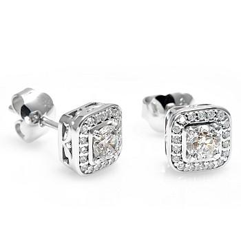 Cercei din Aur sau Platina cu Diamante c122240