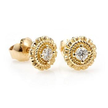 Cercei din Aur sau Platina cu Diamante c1579