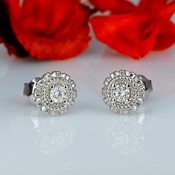 Cercei c1579 din Aur sau Platina cu Diamante