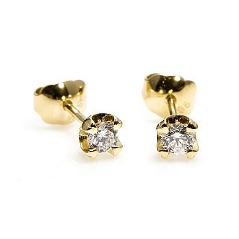 Cercei Stud c1626 din Aur sau Platina cu Diamante