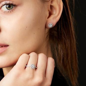 Cercei c1647 din Aur sau Platina cu Diamante