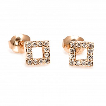 Diamond Earrings c1953 from Gold or Platinum