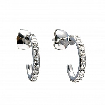 Diamond Earrings c1971 from Gold or Platinum