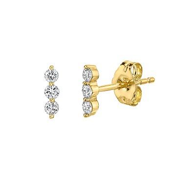 Cercei din Aur sau Platina cu Diamante c1976