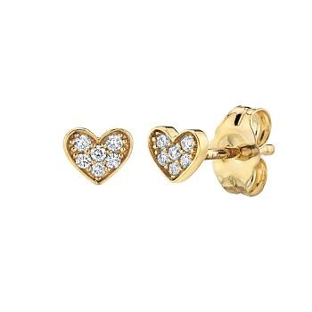 Cercei Inima c1957 din Aur sau Platina cu Diamante