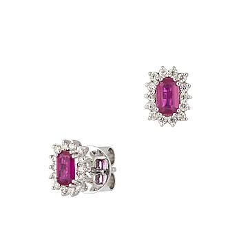Cercei c2472rbemdi din Aur cu Rubine Emerald si Diamante