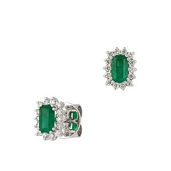 Cercei c2472smemdi din Aur cu Smaralde Emerald si Diamante