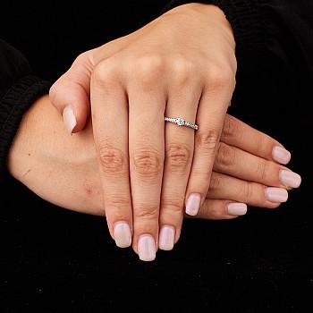 Inel de logodna i504DiDi din Aur sau Platina cu Diamante