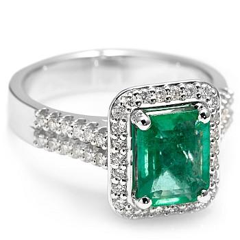 Inel cadou i1902smdi din Aur cu Smarald Emerald si Diamante