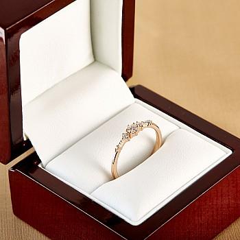 Inel de logodna i1788 din Aur cu Diamante