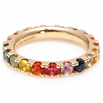 Inel cadou i033v2sfc din Aur sau Platina cu safire colorate