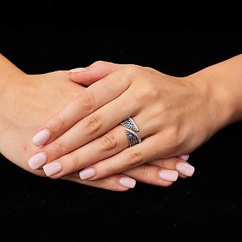 Inel cadou i1386Sfdi din Aur cu Safire si Diamante