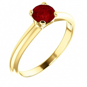 Gold engagement ring with Ruby 122005Rb