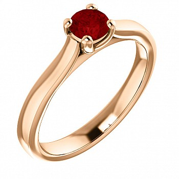 Gold engagement ring with Ruby 122100Rb