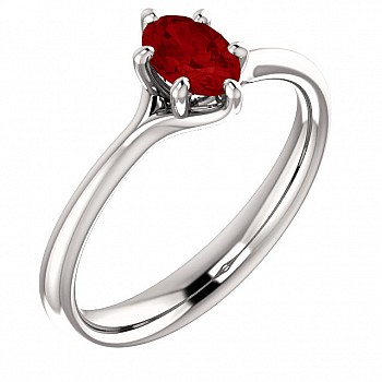 Gold ring with Ruby 122118RbO