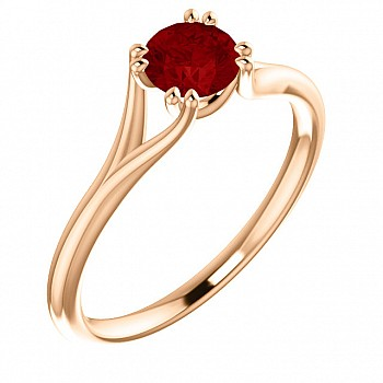 Gold engagement ring with Ruby 123016Rb